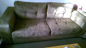 Suede sofa two seater Spotswood Hobsons Bay Area Preview