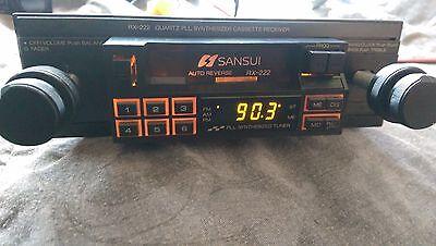 RX-222 SANSUI  VINTAGE SHAFT STYLE CASSETTE PLAYER sansui rx-222