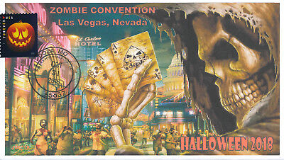JVC CACHETS - 2018 HALLOWEEN-FIRST DAY EVENT HOLIDAY COVER LAS VEGAS ZOMBIES #2](Las Vegas Halloween Events)