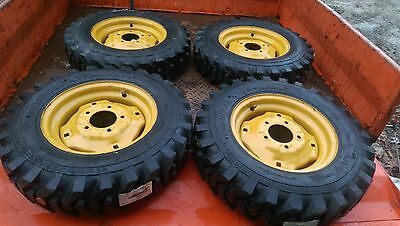 4-5.70-12 Xtra Wall Skid Steer Tireswheels For New Holland Ls120 Ls125
