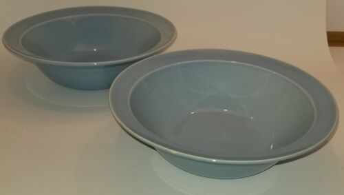 "Pair of Lu-Ray Pastels Blue 9"" Serving Bowls Taylor Smith & Taylor *"