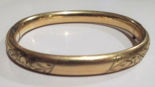 """Vintage Marked Carl-Art 1/20 12k Gold Filled GF 7"""" Bangle Bracelet Pretty!"""
