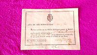 Recibo De La Oficina Del Correo General 1816, Antonio Guillermo, Nicolas Delgado -  - ebay.es