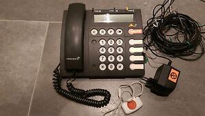 Notruftelefon, Seniorentelefon mit Notrufsender, Großtastentelefon, Ergophone