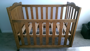 Solid wooden baby cot Asquith Hornsby Area Preview