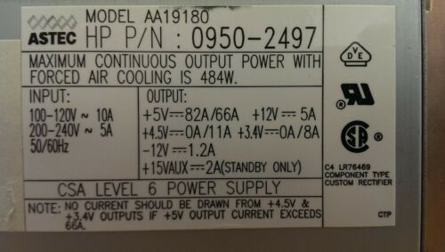 0950-2497 HP J210 Power Supply - model AA19180