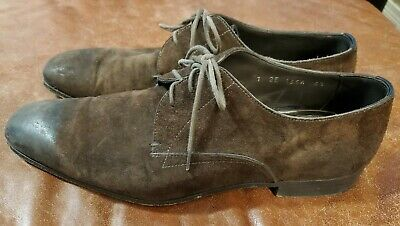 Prada Men's Vintage Brown Leather Loafer Oxford Dress Shoes Size 6.5