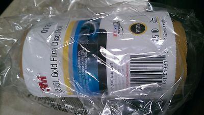 New 3m Stikit Gold Film Disc Roll 255l P120 Grade 75 Discs Per Roll 6 01331