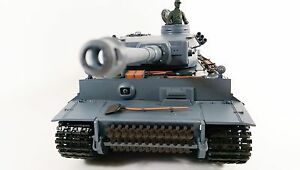 Heng Long 1:16 German Tiger 1 Tank With SMOKE And SOUND Radio Control RC Tank