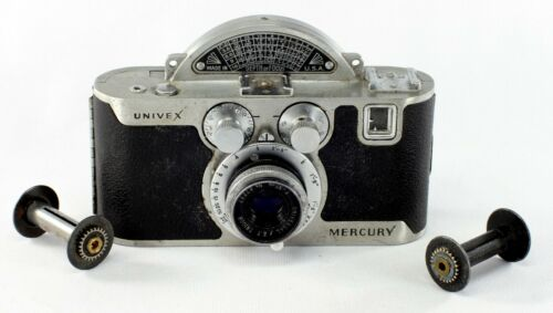 Universal Mercury Model CC, Tricor 2.7/5 cm with 2 film spools