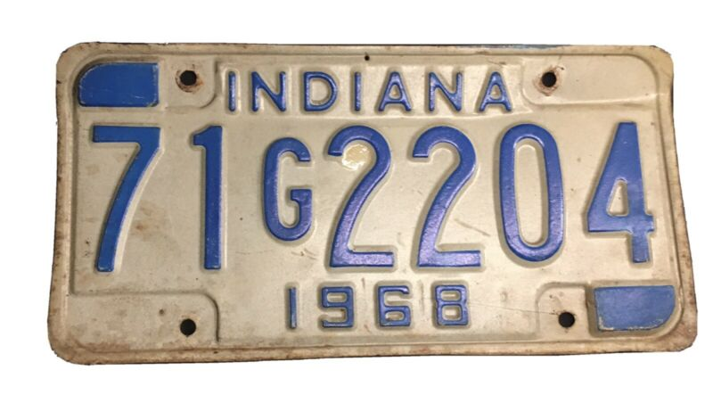 1968 Indiana License Plate
