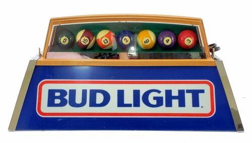 Vintage  Promotional 1986 BUD LIGHT Pool Billiard Table Light