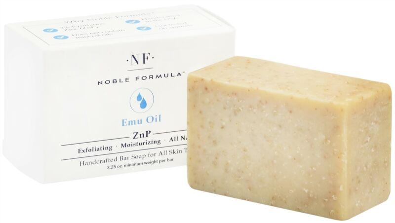 Noble Formula 2% Pyrithione Zinc (ZnP) Original Emu Oil Bar Soap 3.25 oz