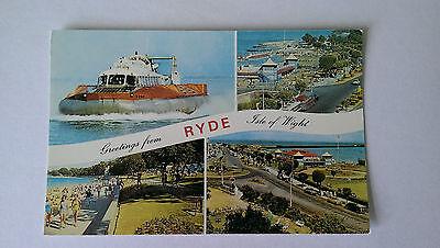 SRN6 Hovercraft colour postcard c1960s Ryde IOW