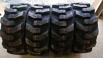 4 Hd 10x16.5 Carlisle Ultra Guard Skid Steer Tires -10-16.5-10 Ply-made In Usa