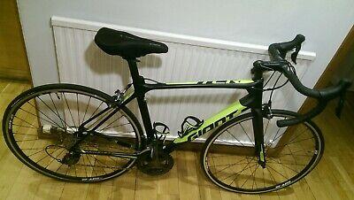 """9Kg 19"""" Giant TCR Advanced 3 Full Carbon Frame Road Bike: Green / Green / Black."""