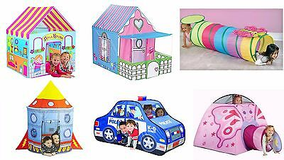 Kids Play Tent Children Playhouse Portable Indoor Outdoor Boys Girl Pretend Play