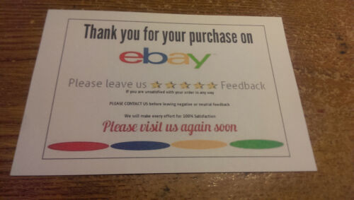 Thank You For Your Business Ebay Cards 100 Card Pack