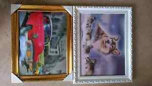 2x framed 3D pictures Minto Campbelltown Area Preview