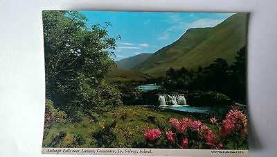 Aasleagh Falls near Leenane, Connemara, Co. Galway postcard c1960s