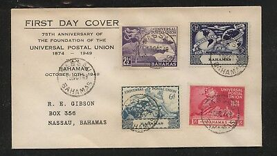 Bahamas    150-153    on  first day  cover   1949          MS0121