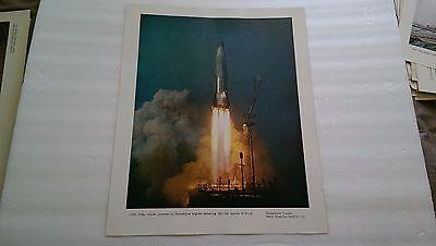 USAF Atlas missile North American Aviation Print Poster vintage