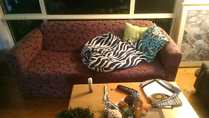 2 seater and 3 seater retro style sofa/bed Putney Ryde Area Preview