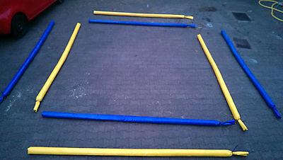 8 Dualgassen Dualstangen Bodenarbeit Stangen 4x Blau 4x Gelb 3,2m Trabstangen
