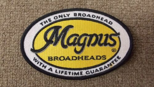 """Magnus Archery Broadheads Embroideried Patch 4.75""""X3"""""""
