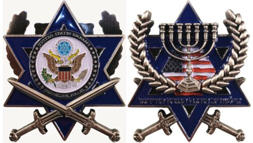 "US State Department US Embassy Jerusalem Israel  Challenge Coin  2"" 132"
