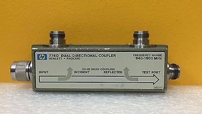 Hp 776d 940 To 1900 Mhz 20 Db Couplingtype N Coaxial Dual Directional Coupler