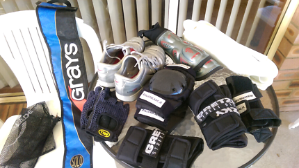 Hockey gear. Assorted. Good condition.
