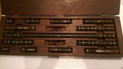 Lufkin End Gauge Set Vintage 1-12 Rods Micrometers