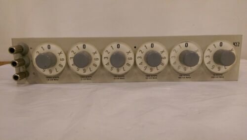 GENERAL RADIO (1434-B) 6 DIAL DECADE RESISTOR  KΩ -Used-
