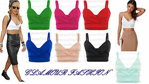 New-Celeb-Ladies-Wrap-Cross-Over-Bralet-Strappy-Womens-Cami-Vest-Bra-Crop-Top