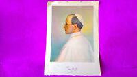 Lamina Del Papa Pius Xii, Firma Estampilada, 51x38 -  - ebay.es