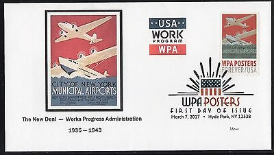 WPA - WORKS PROGRESS ADMINISTRATION POSTERS - MUNICIPAL AIRPORTS - FDC