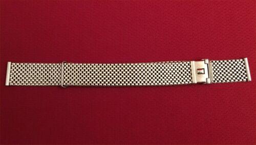 "Vintage Forstner Komfit Stainless Steel Mesh NASA Style Watch Band 5/8"" 16mm"