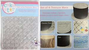 6 Cake Star OUTDOOR ADVENTURE MANLY Impression Mats Sugarcraft Texture Sheets