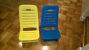 Kids beach bananas chairs x 2. Bentleigh East Glen Eira Area Preview