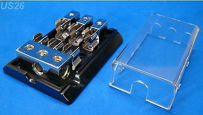 us seller 1 IN 3 OUT BIG AGU FUSE DISTRIBUTION POWER BLOCK 4 GAUGE 8 AWG 12-VOLT