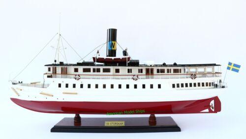 """SS Storskar Sweden Steamship Model 29"""" Handcrafted Wooden Model"""