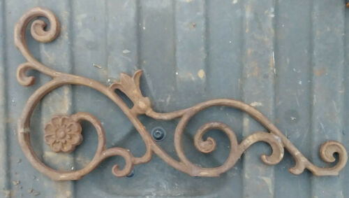 VINTAGE Wrought Iron Decorative Architectural Salvage Scrolling Floral 17
