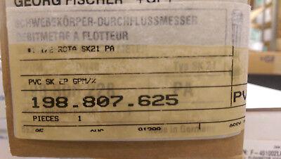 Gf Flow Meter Rotameter 2.6 To 26 Gpm 1-12 80pvc Socket 198807625