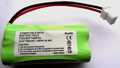 RECHARGEABLE BATTERY 2.4V COMPATIBLE WITH MOTOROLA MBP160 BABY MONITOR