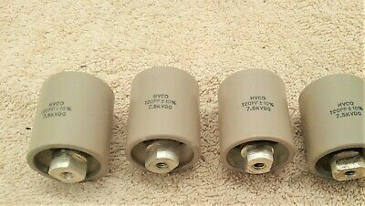 100pf 4kVAR 3.5kV Condensador High Power Ceramic Doorknob Capacitor Silver 2pcs.