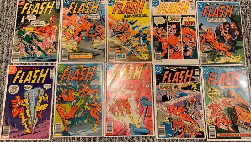 The Flash 276-300 COMPLETE RUN SET LOT DC COMICS