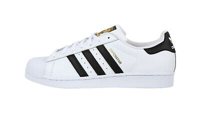 ADIDAS Superstar White Black Leather Lace Up Fashion Sneakers Women Shoes