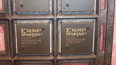 Qty 4 Xc2s30-5pq208c Xilinx Qfp-208 Spartan Fpga Nos