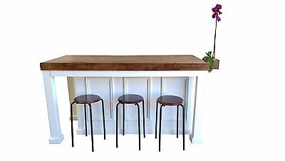 Custom Kitchen Island (**6 Ft Kitchen Island, Butcher Block Top With Vase and Custom Color)